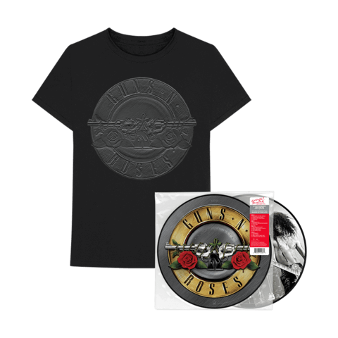 √Greatest Hits Ltd. Picture Disc LP + Charcoal Sketch Seal T-Shirt von Guns N' Roses - LP Bundle jetzt im Guns N' Roses Shop
