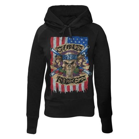 √Skull Flag von Guns N' Roses - Girlie hooded sweater jetzt im Guns N' Roses Shop
