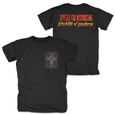 √Locked N Loaded Cross von Guns N' Roses - T-Shirt jetzt im Guns N' Roses Shop