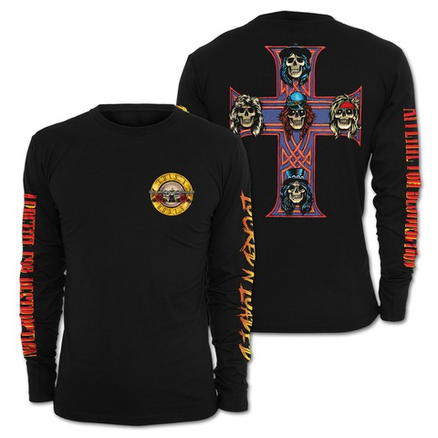 √Locked N Loaded Bullet von Guns N' Roses - Long-sleeve jetzt im Guns N' Roses Shop