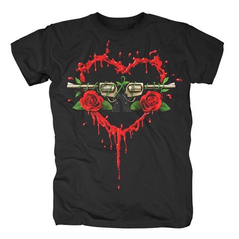 Bloody Bullet Heart von Guns N' Roses - T-Shirt jetzt im Guns N' Roses Shop