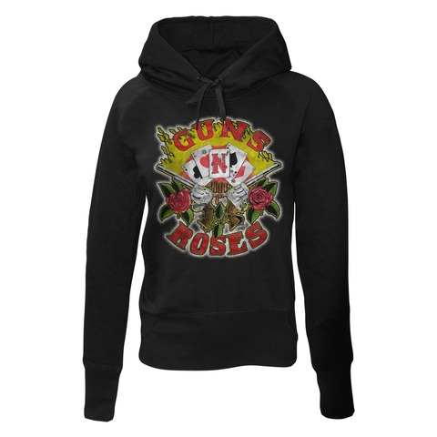√Cards von Guns N' Roses - Girlie hooded sweater jetzt im Guns N' Roses Shop